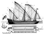 Двина, Галера, 1700