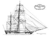 Hollandische Galiot, 1800