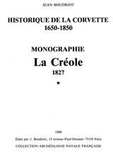 La Creole, 1650. Monographie